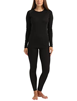 Ultrasport Conjunto de ropa interior térmica para mujer, Negro, M