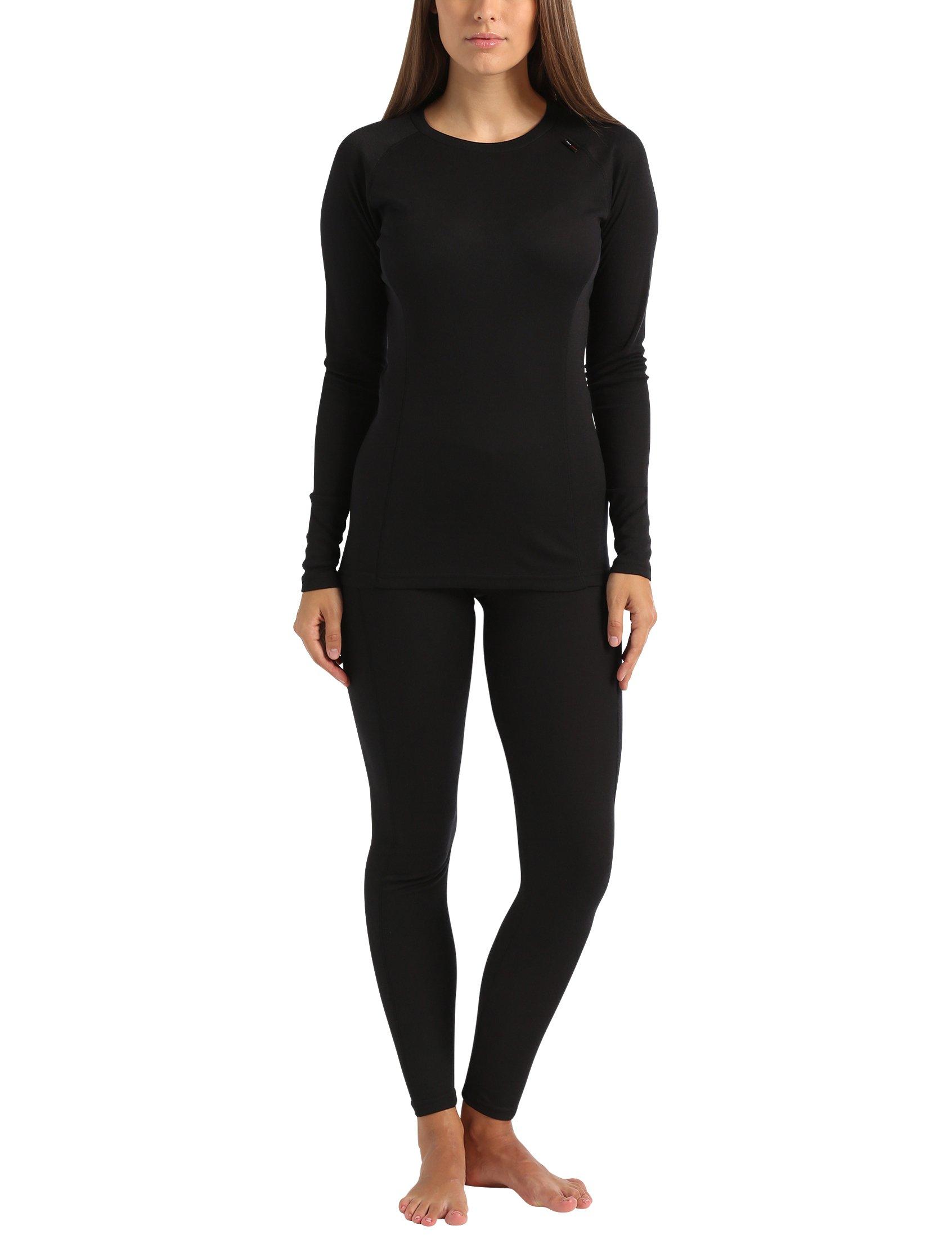 Ultrasport Ensemble de sous-Vêtements Thermiques pour Femme - t-Shirt et  Collant Fonctionnels 6f5748caef3