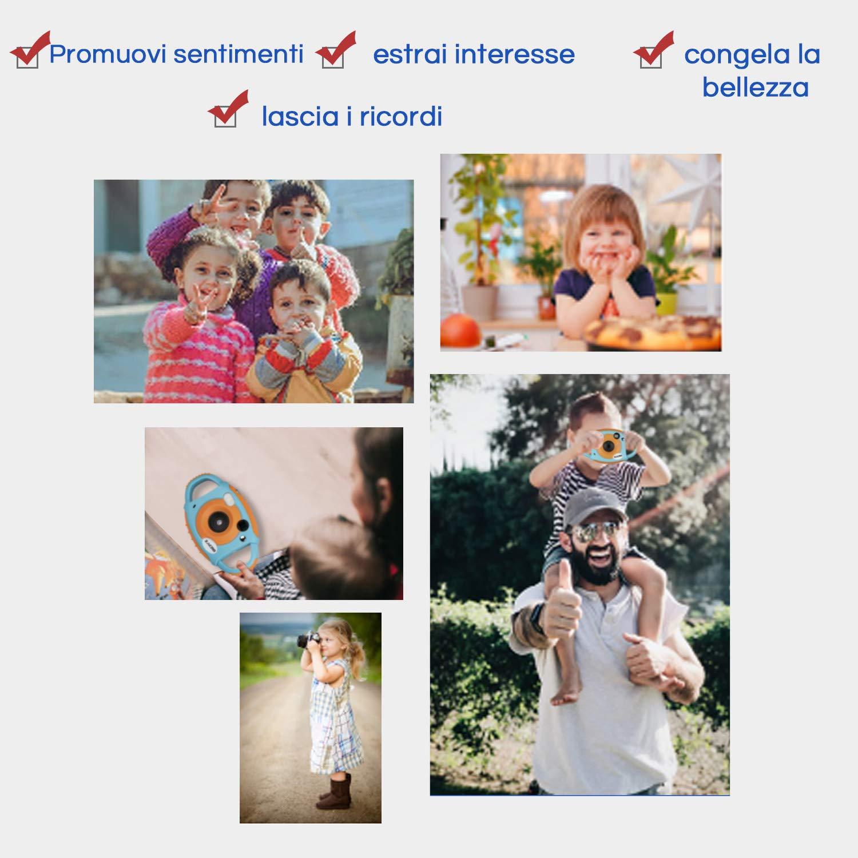Blu 1080P HD Zacro Fotocamera Digitale per Bambini con Macchina Fotografica Bambini LCD da 1.8 inth Videocamera HD a Colori WiFi 5MP Dual Lens Camera Regalo di Compleanno per Bambini
