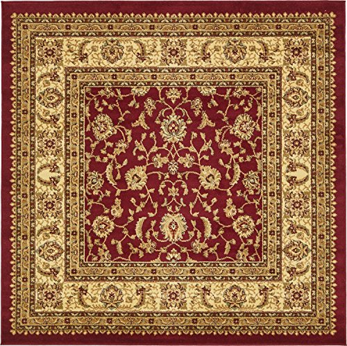 Unique Loom Voyage Collection Traditional Oriental Classic Red Square Rug (6' x ()