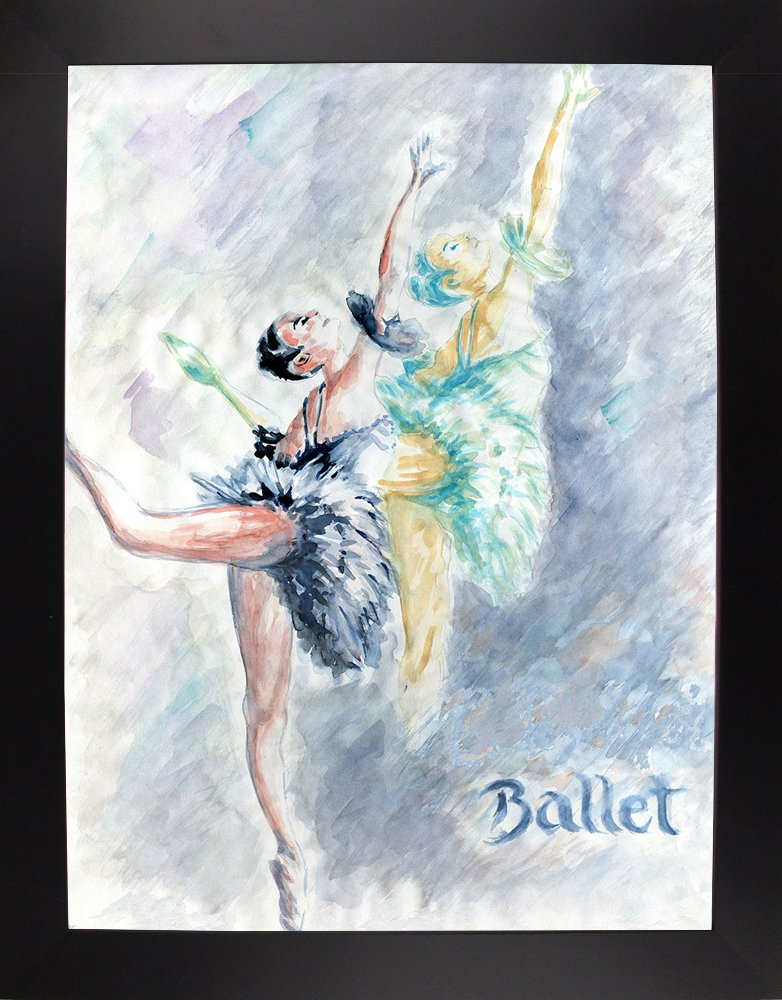 Frame USA Ballet Dancers-PETPOT135007 40x30 by Peter Potter in a Affordable Black Large Print 40x30