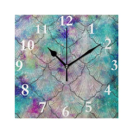 Amazon com: Chu warm Wall Clock Colorful Ocean Sea Fish Mermaid
