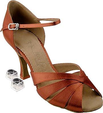 71c35f11be37f5 Very Fine Women s Salsa Ballroom Tango Dance Shoes Style SERA1311 Bundle  with Plastic Dance Shoe Heel