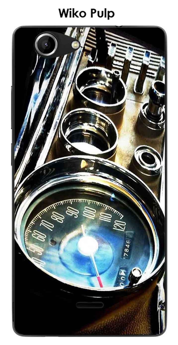 Onozo Carcasa Wiko Pulp Design contador coche Vintage ...