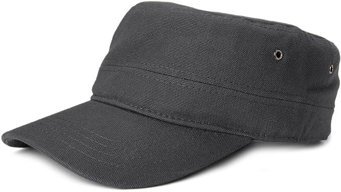 styleBREAKER gorra en estilo militar de tela de algodón robusta, ajustable, unisex 04023020, color:Antracita: Amazon.es: Ropa y accesorios