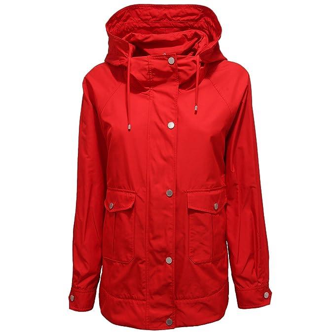 MaxMara 7901V giubbotto donna WEEKEND soprabito red jacket woman: Amazon.es: Ropa y accesorios
