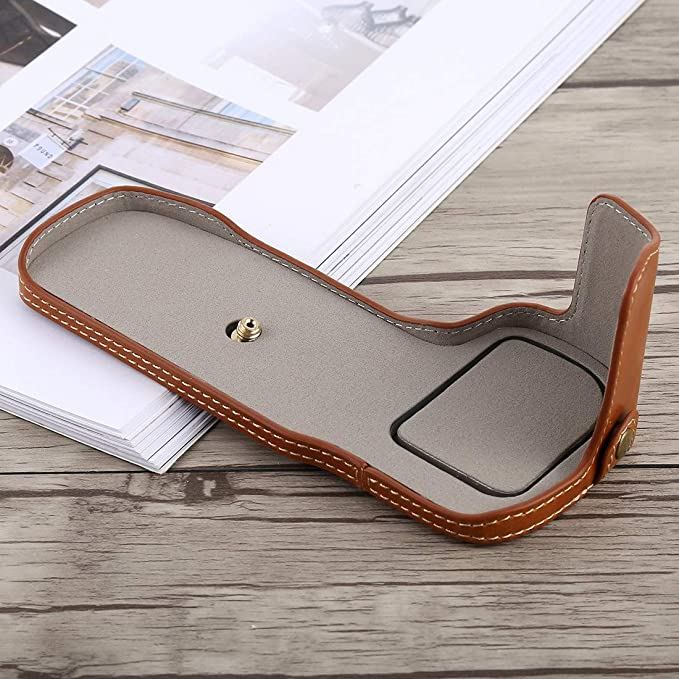 YANTAIANJANE Camera Accessories 1//4 inch Thread PU Leather Camera Half Case Base for Canon EOS 5D Mark IV Color : Brown 5D Mark III Black