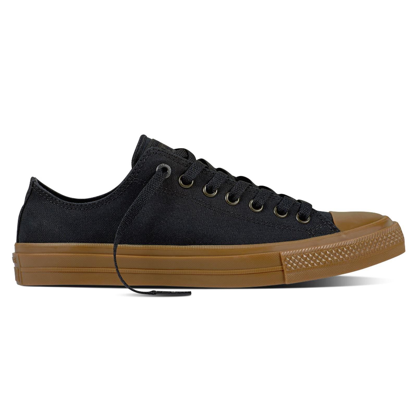 c4dd76727c0e38 Galleon - Converse Chuck Taylor II All Star Ox Lo Sneaker Black Gumsole (8  D(M) US Men)