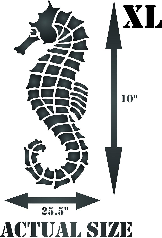 /riutilizzabile grande Sea Ocean Nautical Seashore Reef Wall stencil template/ Seahorse stencil/ xs /da usare su carta progetti scrapbook Journal muri pavimenti tessuto mobili in vetro legno etc