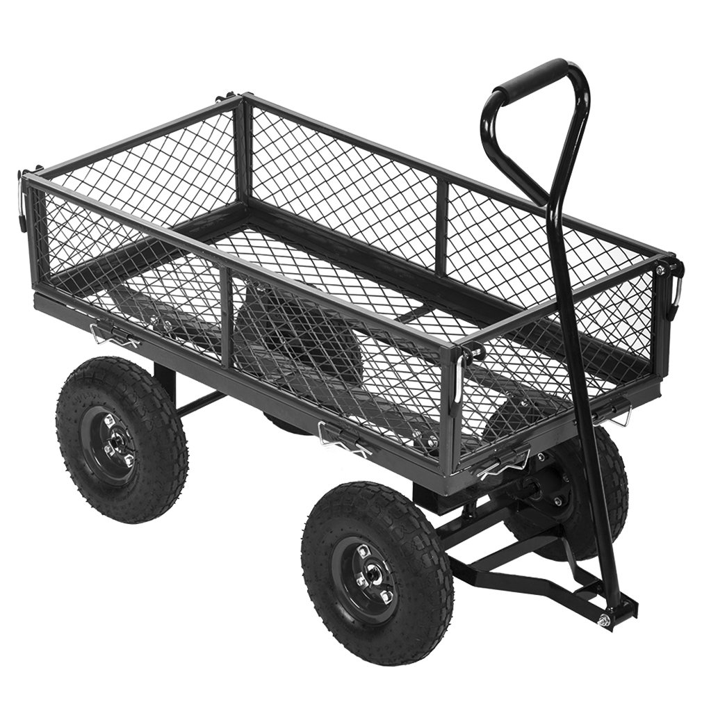 PayLessHere Garden Carts Wagons Heavy Duty Utility Outdoor Steel Beach Lawn Yard Buggy