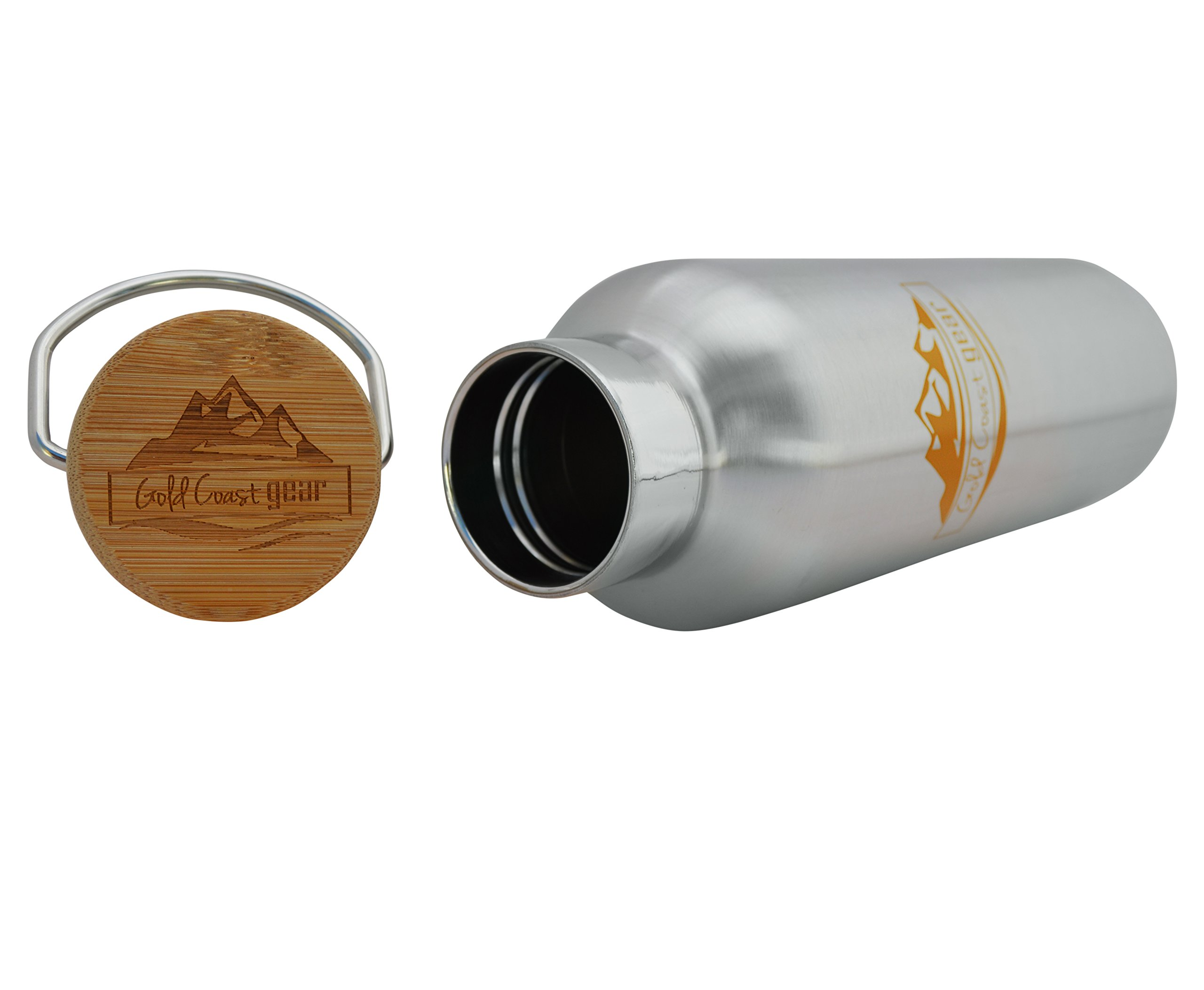 Vacuum Insulated Stainless Steel Water Bottle ( 25 OZ / 750 ML ). Zero Condensation! (750ml) by Gold Coast gear (Image #5)