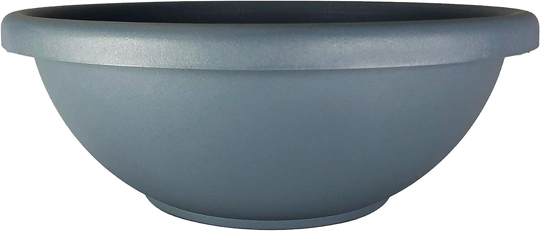 "The HC Companies GAB12000DE2 Garden Bowl Planter, 12"", Slate Blue"