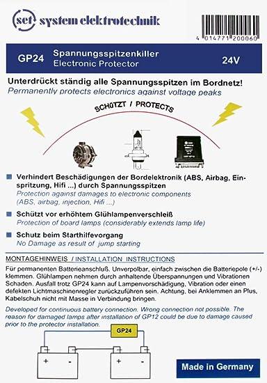 Set Gp24 Spannungsspitzenkiller Und Glühlampenprotector 24v Auto