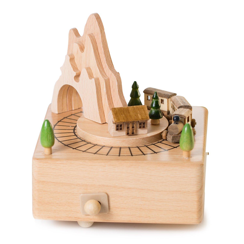 【内祝い】 Clockwork Music B01M3YLQSW Box Little Train Music Box for Present Music Birthday Present - Christmas gift present B01M3YLQSW, ゴダイ:e0e17e91 --- arcego.dominiotemporario.com