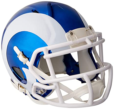 e924b4d24 Image Unavailable. Image not available for. Color  Riddell Speed NFL LOS  ANGELES RAMS Football Helmet Chrome Mini