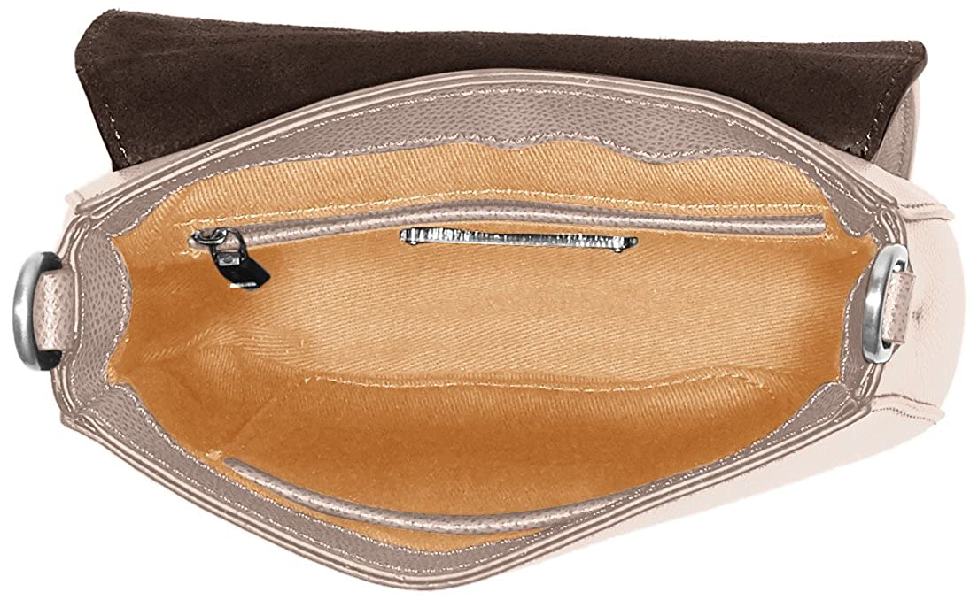 Joop! Damen Grano Colorblocking Rhea Shoulderbag Shf Schultertasche, 4x17x18 cm Grau (Light Grey)