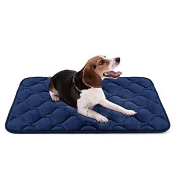 Hero Dog Cama Colchoneta Perro Mediano Lavable, Cojines para Mascotas Antideslizante Vellón Almohadilla Suave 90x60 cm (Azul M): Amazon.es: Productos para ...