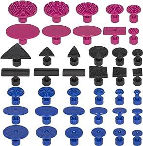 Kit de herramientas de reparaci/ón de abolladuras sin pintura para carrocer/ía con martillo deslizante Extractor de barra en T 6 piezas de leng/üetas de tracci/ón