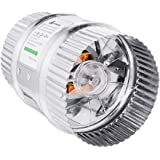 A1KINGDOM 4 Inch 100 CFM Inline Duct Booster Fan, Low Noise Extra Large Ventilation and Long 6.2' Grounded Power Cord