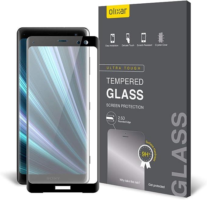 HAIJUN Phone Screen Film 25 PCS 9H 3D Curved Full Screen Tempered Glass Film for Sony Xperia XZ4 Anti-Scratch Tempered Glass