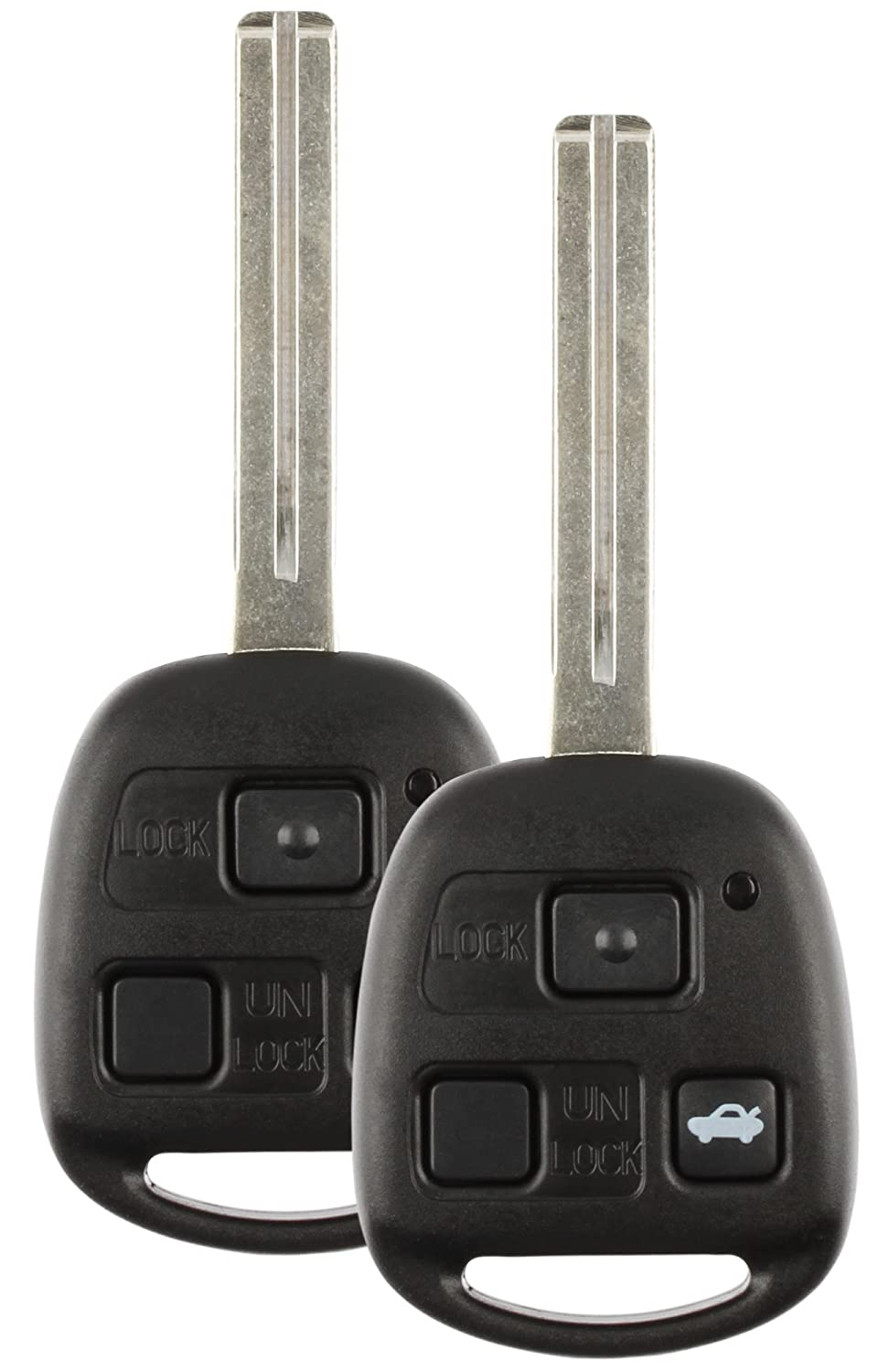 Discount Keyless Remote Entry Replacement Uncut Ignition Car Key Fob For Lexus ES300 SC300 SC400 HYQ1512V 2 Pack