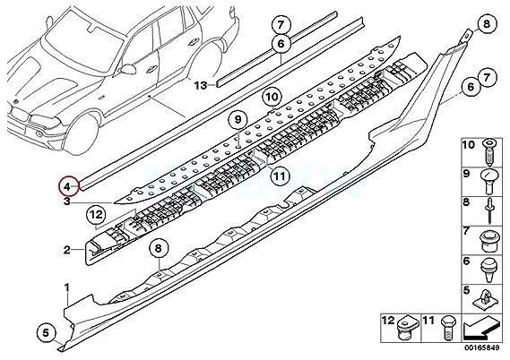 Amazon Com Bmw Genuine Footboard Right Cover Automotive