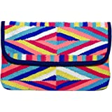 Diwaah Women's Cotton Clutch with Magnetic Snap, Multicolour