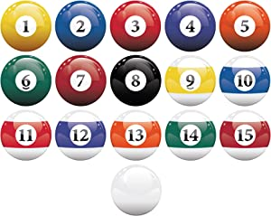 16 Realistic Color Billiard Balls Wall Decal Sticker Game Room Sign Decor (10in X 10in Size) #6089 Easy to Apply & Removable.