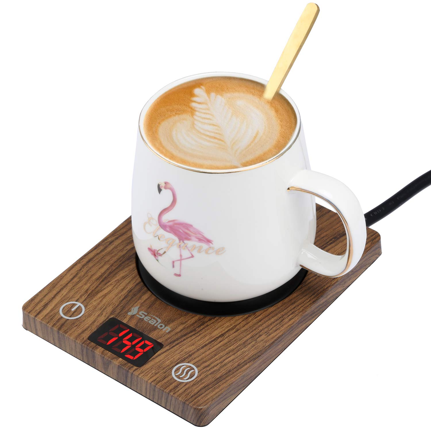 Coffee Mug Warmer Cup Warmer Beverage Warmer for Office Home Best Gift Auto Shut off with Three Temperature Settings 104 131 149 Display,Warmer Plate for Tea Water Milk Cocoa by SeaLon Coffee