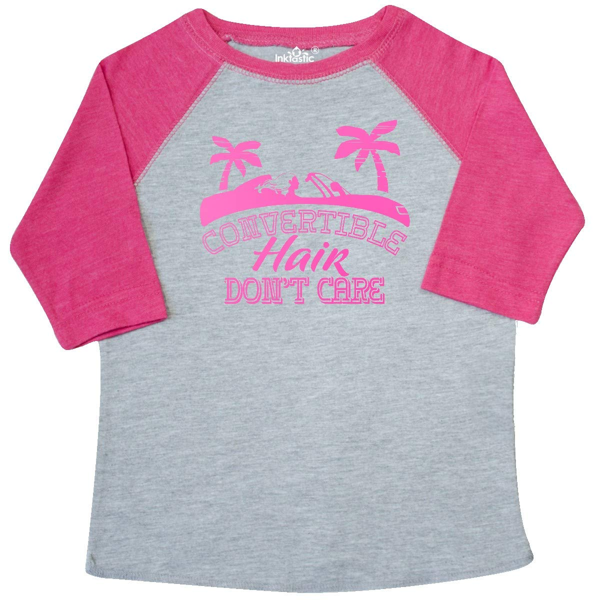 inktastic Convertible Hair Dont Care Pink Car Silhouette Toddler T-Shirt