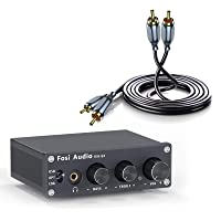 Fosi Audio Mini Stereo Gaming DAC & Headphone Amplifier with RCA to RCA Cable for Home/Desktop Powered/Active Speakers…