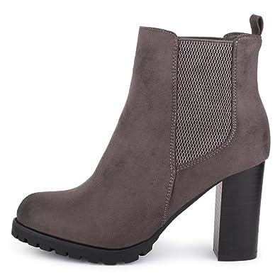 best-boots Damen Stiefelette mit Absatz Stiefel BenkeyB Mevina Grau 1530  Größe 41 1db5800a97