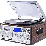 Musitrend レコードプレーヤーミュジックプレーヤー 7種再生【レコード、カセット、CD、ラジオ、USB、Bluetooth、外部入力】 (View amazon detail page)
