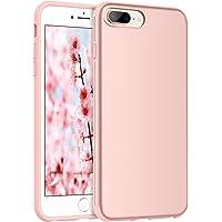 Bentoben Slim Shock Resistant Case for iPhone 8 Plus / 7 Plus in Rose Gold