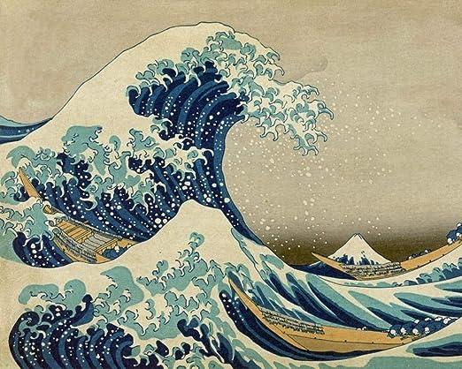 "Amazon.com: Great Wave - Katsushika Hokusai - Paint by Number Kit - 16""x20"" (40x50cm) - DIY Acrylic Painting Home Decor"