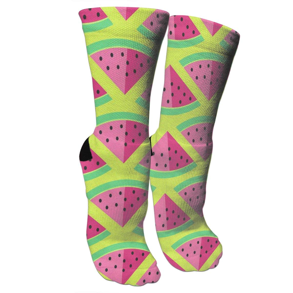 Watermelon FashionCrazy Socks Casual Cotton Crew Socks Cute Funny Sock Great For Sports And Hiking