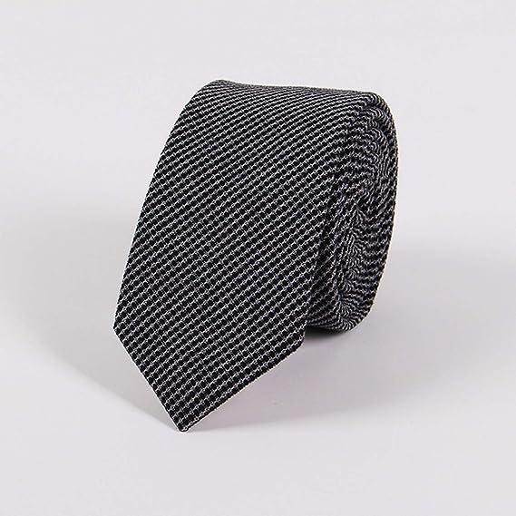 Sunonvi Corbatas de algodón Corbata azul de 6.5 cm Corbata delgada ...