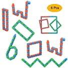 ZYX 6-Pack Wacky Tracks Snap- Click Finger Fidget Toys- Sensory Gadget Puzzle DIY Toys for Kids and Adult