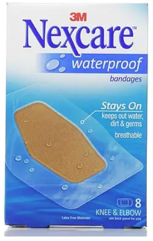 Nexcare Waterproof Knee & Elbow Bandages 8 Each (Pack of 10) by Nexcare