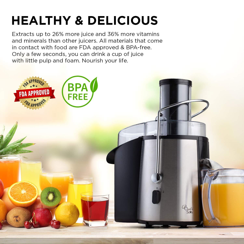 Amazon.com: Chef s Star juc700 Juicer – Extractor de jugo ...