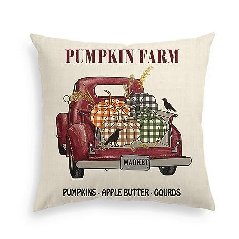 Amazon.com: AVOIN - Funda de almohada de otoño, rústica ...