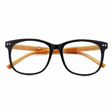 a99c3abf87a CGID CN81 Large Oversized Bold Frame UV 400 Clear Lens Horn Rimmed Glasses