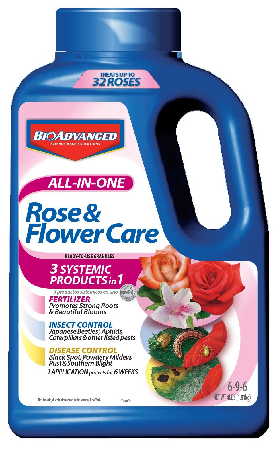 Bayer Advanced 701110A  All in One Rose and Flower Care Granules, 4-Pound by BioAdvanced
