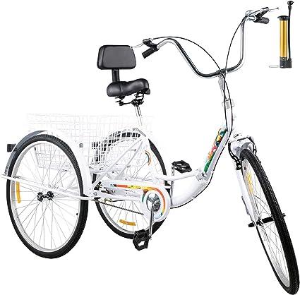 """20/"""" Adult Tricycle 3-Wheel 1Speed Bicycle Trike Cruiser w// Lock Black"""