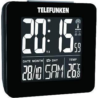 Telefunken FUX de 260 de HRB (B) DCF LCD de radio despertador digital con