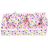 Tinksky Lovely Miniature Dollhouse Furniture Flower Print Sofa Couch with 2 Cushions for Barbie Dolls (Random Color)