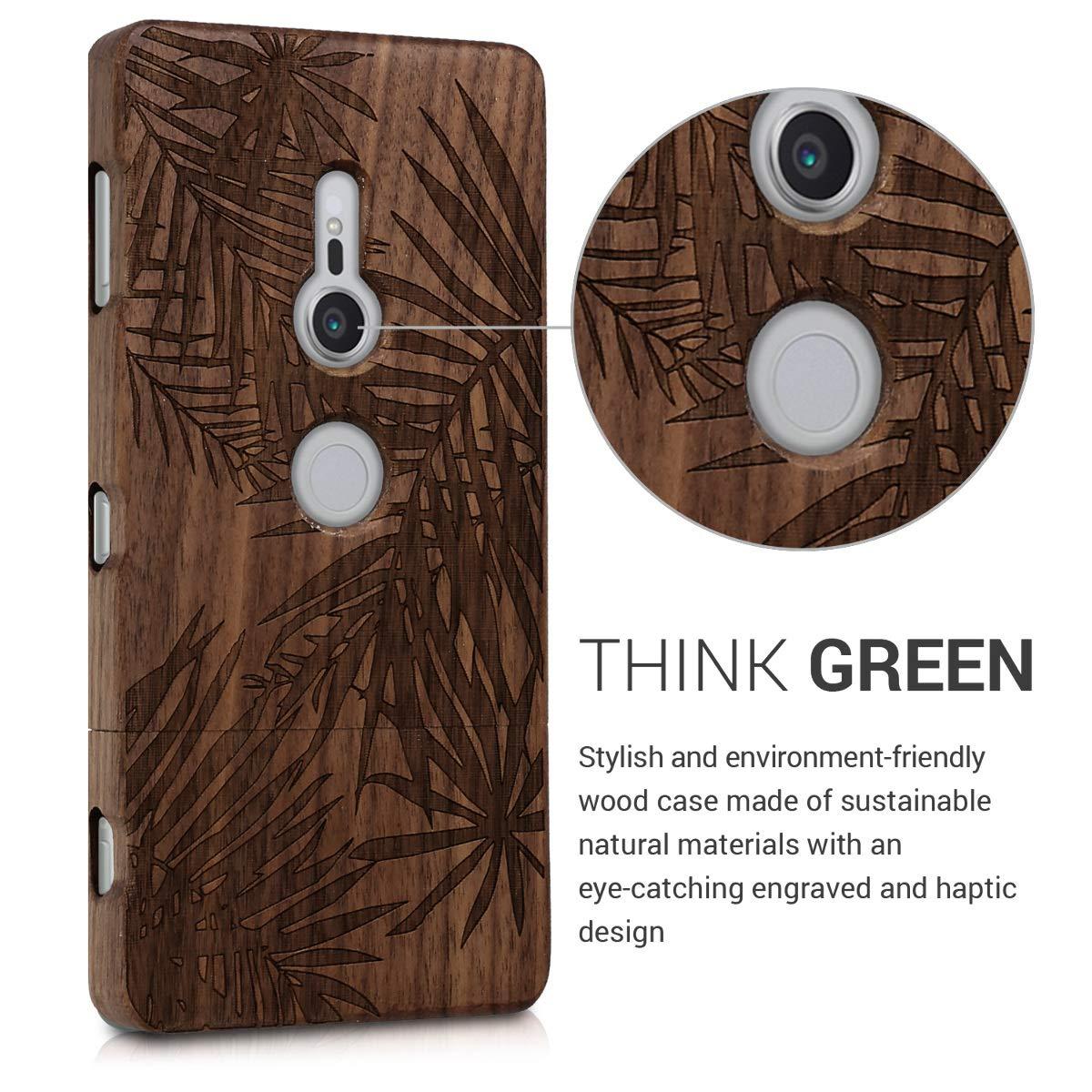 Amazon.com: kwmobile - Carcasa para Sony Xperia XZ2 (madera ...
