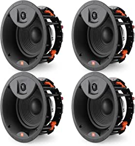 """JBL LAE8C 8"""" in-Ceiling Speakers 2-Way Frameless Design with White Magnetic Grille - (4 Pack)"""