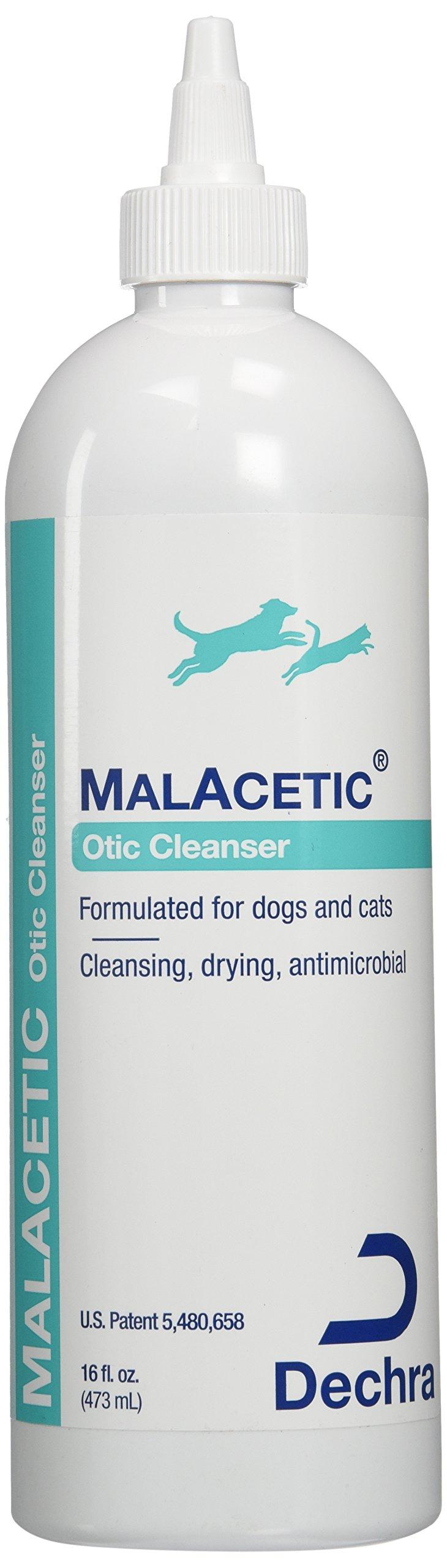 Dechra DermaPet Malacetic Otic Ear/Skin Cleanser, 16 oz.