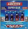 Loctite 2002988 Super Glue Control Gel and Ultra Liquid 4 g Bottles (Pack of 4), 2, Clear, 5 Fl Oz